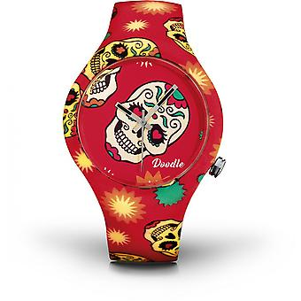 Watch Doodle CALAVERAS MOOD DOCA001 - red 39mm male/female