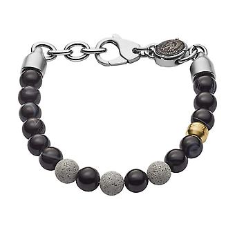 Diesel bracelet DX1192040 - CONCRETE Agate Black Steel Men