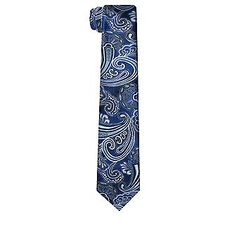 Dobell barbati bleumarin Paisley jacard cravată