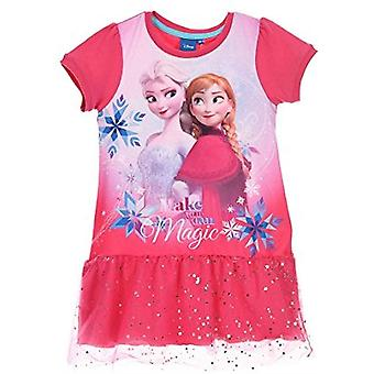 Meninas HQ1165 Disney congelados Elsa & Anna curto vestido de manga