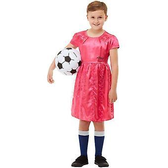 David Walliams poika mekko Deluxe puku lapsi vaaleanpunainen