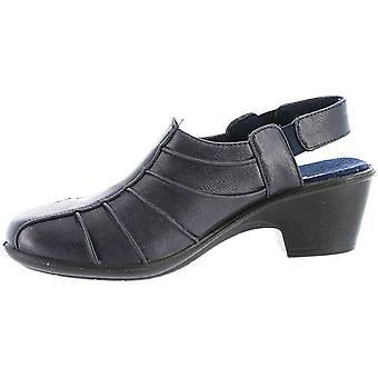 Easy Street Womens Manner Cuir Round Toe Casual Slingback, Marine, Taille 7.0