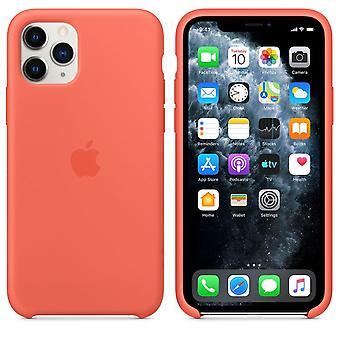 Alkuperäinen pakkaus MWYQ2ZM / Apple silikoni mikrokuituliina kotelo iPhone 11 Pro - oranssi