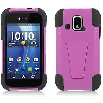 Aimo Kickstand Case for Kyocera Hydro XTRM - Black Skin/Hot Pink Cover