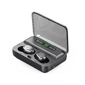 F9 + TWS سماعة الأذن بلوتوث ميني IPX7 شاشة LED للماء - دائرة الرقابة الداخلية، الروبوت