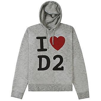 Dsquared2 DSquared2 'I Love D2' パーカー・グレイ