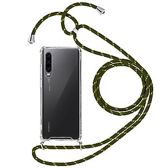 Braided Nylon Lanyard Phone Case for Huawei P30 - Forcell, Green