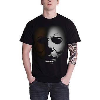 Official Halloween T Shirt Portrait Movie Logo Mens New Black Horror