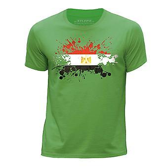 STUFF4 Chłopca rundy szyi T-shirty Shirt-Egipt/egipską banderą Splat zielony