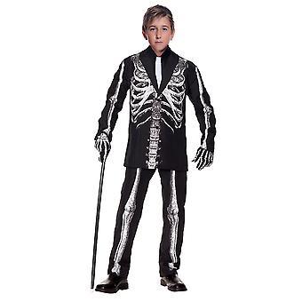 Traje de niño esqueleto