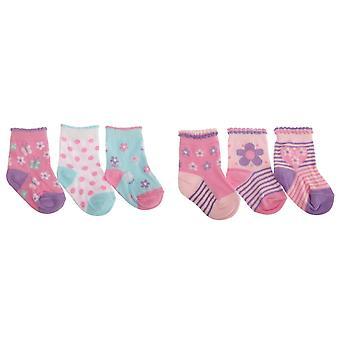 Baby jenter diverse hjerte/Butterfly Design sokker (pakke med 3)
