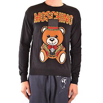 Moschino Ezbc015139 Uomini's Maglione di cotone nero