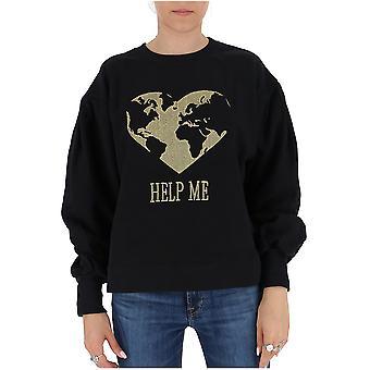 Alberta Ferretti 17076660j0555 Dames's Black Cotton Sweatshirt