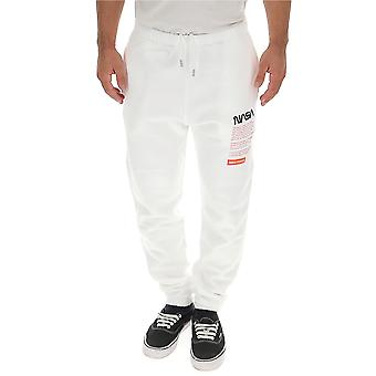 Reiger Preston Hmch005f198080200188 Mannen's White Cotton Joggers