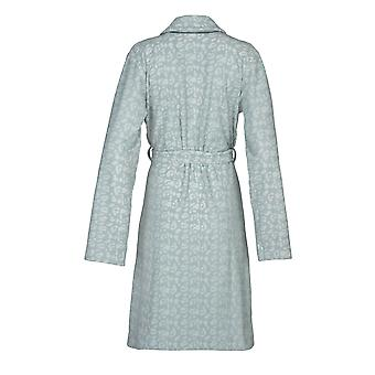 Vossen 141763-002 Women's Jane Shell Blue Animal Print Cotton Dressing Gown Robe