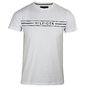 Tommy hilfiger men's white sky corp hilfiger t-shirt