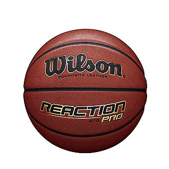 Wilson Reaction Pro Composite Leather Basketball Ball Tan