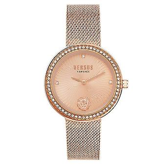 Versus Versace VSPEN0919 Women's Lea Rose Gold Tone Wristwatch