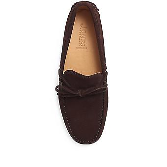 Jones Bootmaker Mens Patrick Suede Leather Driver Moccasin