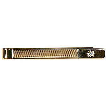 David Van Hagen Cubic Zirconia estrela gravata Slide - ouro