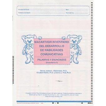 Macarthur kommunikativutveckling Inventeringar (Cdis) Inventario II