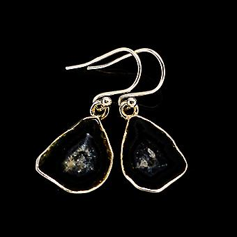 Coconut Geode Druzy Earrings 1 1/4