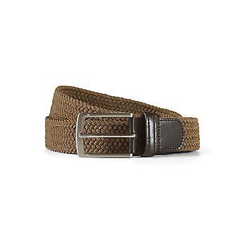 Braided belt john light brown