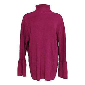 Joan Rivers Classics Collection Women's Plus Sweater Purple A300366