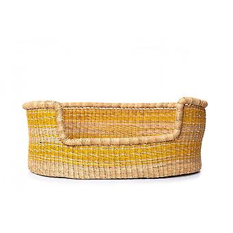 Cosy Coco Napier Grass Dog Bed | Yellow