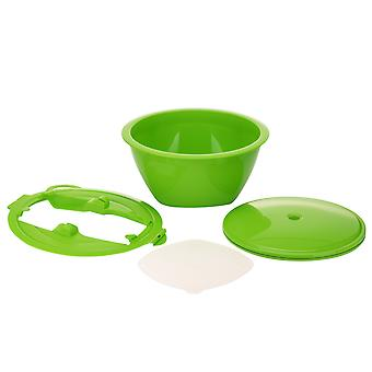 Börner Multimaker + Multiplate in white - Salad bowl with lid for steam cooking - Vacuum holding bowl
