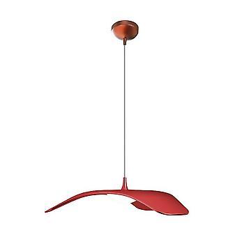Lámpara de suspensión de techo de metal rojo 34x34x120 cm