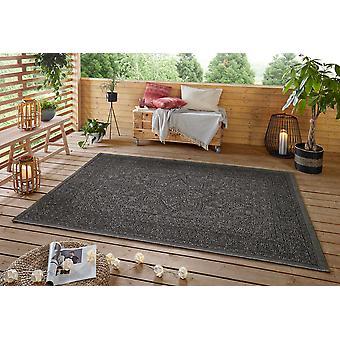 Jaffa 103873 Anjara Black Grey  Rectangle Rugs Modern Rugs
