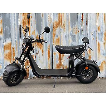 "Fatboy City Coco Smart E Electric Scooter Harley - 8 ""- 1500W - 20Ah - A Class - Black"