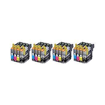 RudyTwos 4 x ersättning för bror LC123 uppsättning bläck enhet svart Cyan gul & Magenta (4 Pack) kompatibel med MFC-J6920DW, MFC-J6520DW, DCP-J4110DW, MFC-J4410DW, MFC-J470DW, MFC-J870DW, MFC-J4510DW, DCP