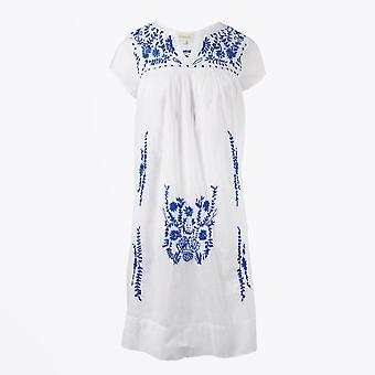 Dream  - Embroidered Tunic Dress - White