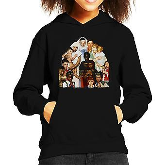 The Saturday Evening Post Norman Rockwell Do Unto Others Kid's Hooded Sweatshirt