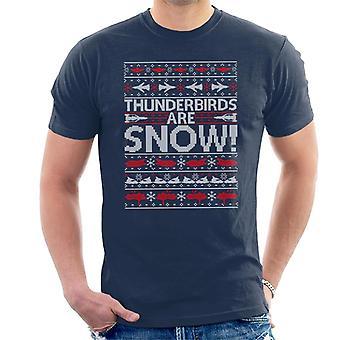 Thunderbirds Are Snow Knit Pattern Men's T-Shirt