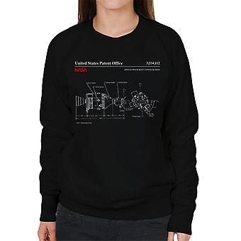 NASA Apollo Spacecraft Blueprint Women's Sweatshirt
