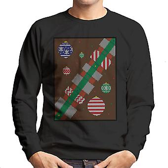 Star Wars Christmas Lightsaber baubles miesten ' s College pusero