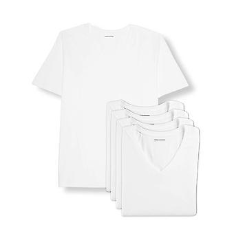 Essentials Men's Big & Tall 5-Pack V-Neck Undershirts Shirt, -White, 3XL