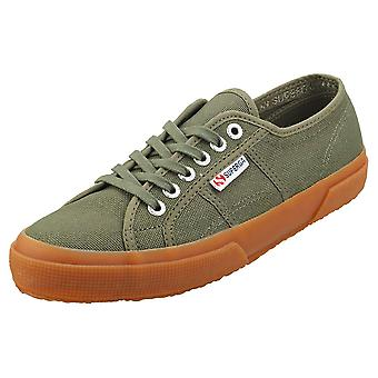 Superga 2750 Cotu Classic Mens Fashion Trainers in Green Gum