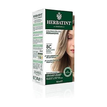 Färgning Gel Permanent Ljus Aska Blond 8C 150 ml (Ljus aska blond)