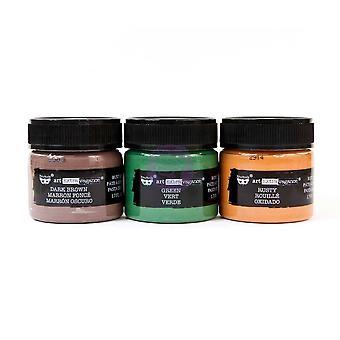 Finnabair Art Extravagance Rust Effect Paste 50ml Jars 3/Pkg - Metal Rust