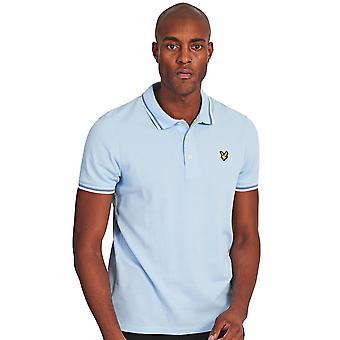 Lyle & Scott Mens Seasonal Tipped Cotton Contrast Polo Shirt
