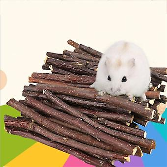 Hamster Rabbit Teeth Grinding Apple Tree Stick Minerals Molar Stone Chew