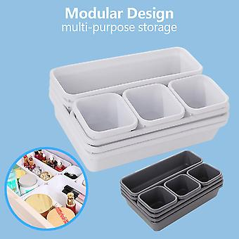 Drawer Organizers Storage Best Interlocking Narrow Drawer Dividers Box Bag For Bathroom Office Kitchen Home Storage Tool