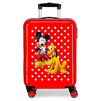 Cărucior în ABS Mickey și Pluto Roșu
