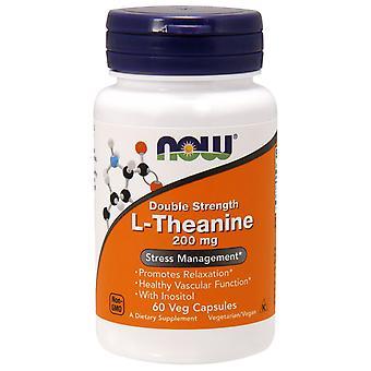 Maintenant aliments, L-Théanine, Double Force, 200 mg, 60 capsules de légumes