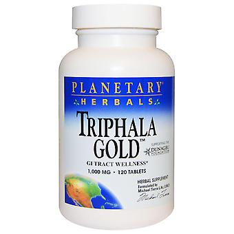 Planetary Herbals, Triphala Gold, GI Tract Wellness, 1.000 mg, 120 Tabletten