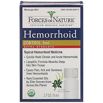 Forces of Nature, Hemorrhoid Control, Extra Strength, 0.17 oz (5 ml)